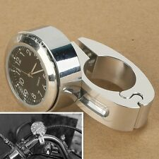 """7/8"""" 1"""" Handle Bar Mount Clock Watch for Harley Davidson Touring Softail Dyna"""