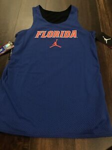 Nike Jordan Florida Gators Womens Mesh Jersey Reversible Size XS Blue Black