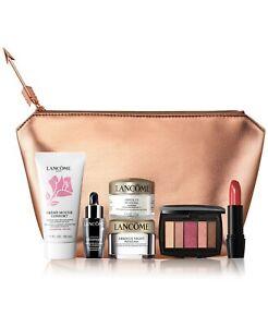 7pcs Lancome Absolue Day + Night Cream, Genifique, Cleanser, Lipstick, Eyeshadow
