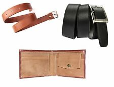 Combo of Black belt, Brown wallet and Tan Belt with FREE LED LIGHT