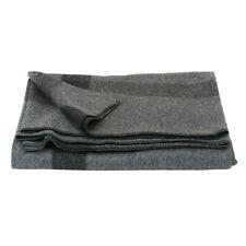 New listing ~ Civil War Blanket - Wool - Grey with Black Stripe on 4 sides - New !