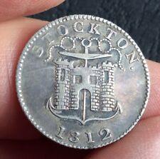 More details for 1812 stockton christopher and jennett  one shilling silver token   (ref:17)