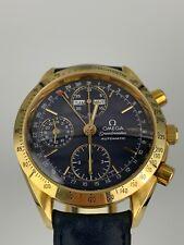 OMEGA Speedmaster 18K Gold Triple Date 3261.8000 Chronograph Blau