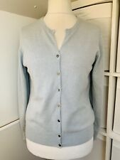 M&S Autograph Pale Blue 100% Cashmere Button Front Cardigan - Size 12