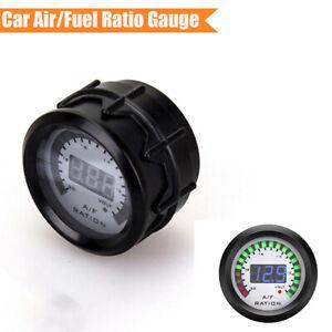 52mm Car Blue LED Digital Air Fuel Ratio AFR Gauge Parameter Instrument Meter