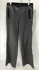 COP COPINE Woman's Pants Black Gray Folklo Chic Pull On size 6 EURO size 36