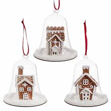 Gingerbread House under Dome Set 3 RAZ Christmas ornaments pmp 3716155 NEW