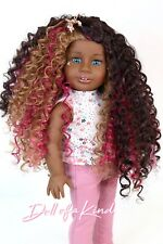 Custom American Girl Doll Wig |Strawberry Chocolate |10-11 size wig |Blythe| OG