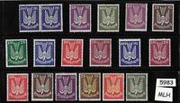 #5983  MLH stamps (18)  / Flugpost Air Post Airmail / 1922-1924 German Republic