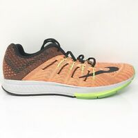 Nike Mens Air Zoom Elite 8 748588-803 Orange Green Running Shoes Lace Up Sz 11.5