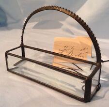 "J. Devlin Glass Cardholder Beveled   4 3/8"" x 1 1/4"" "" x 3 1/8""  $20.99"