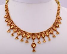 22K SOLID GOLD HANDMADE TUSSI NECKLACE CHOKER TRADITIONAL DESIGN TRIBAL JEWELRY