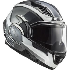 LS2 FF900 Valiant II Orbit Jeans White Titanium Motorcycle Helmet, sz 3XL