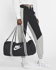 New Nike Unisex Heritage Duffel Bag Gym Travel Sports Soccer Yoga Bag Black OS