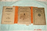 Three Hupp Motor Car Corporation Automotive Manuals & Large Lubrication Chart