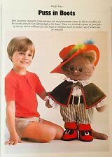 Sewing pattern Jean Greenhowe Puss in Boots 61 cm jouet poupée instructions RARE
