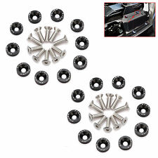 20 X BLACK JDM BILLET ALUMINUM FENDER BUMPER WASHER/BOLT ENGINE BAY DRESS UP KIT