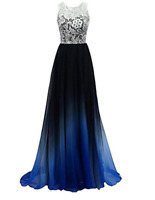 Women's Lace Bridesmaid Dress Formal Dresses Evening Gowns Party Prom Sleeveless