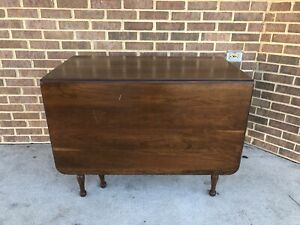 antique drop leaf dining table