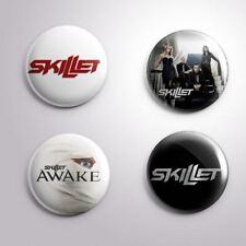 4 SKILLET - Pinbacks Badge Button Pin 25mm 1''