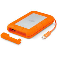 LaCie Rugged Thunderbolt USB 3.0 2TB External Hard Drive - LAC9000489 open box