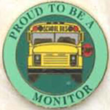 Exclusive, Proud To Be a School Bus Monitor Lapel / Hat Pin