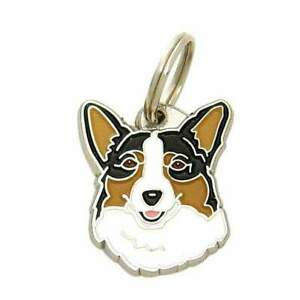 Dog name ID Tag,  Welsh corgi, Personalised, Engraved, Handmade, Charm