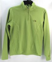The North Face Womens Glacier Fleece Sweater 1/4 Zip Pullover Gray Sz S TKA 100
