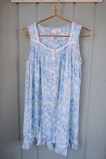 Eileen West Womens Size Medium 8 10 Floral Blue Green Print Nightgown Nightdress