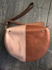 NWOT Abercrombie&Fitch Genuine Leather Wristlet Women's 2tone Brown Wallet