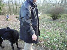 Veste 3/4 en cuir/capuche amovible/Oscard Leopold/manteau/équitation/motard