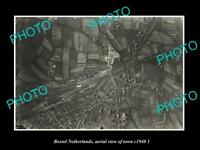 OLD LARGE HISTORIC PHOTO BOXTEL NETHERLANDS HOLLAND TOWN AERIAL VIEW c1940 2