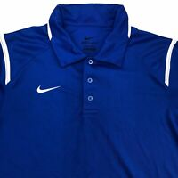Nike Dri-Fit Golf Polo Shirt Men's Small Short Sleeve Blue 100% Polyester