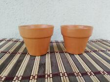3pc Ceylon Earthenware Mini Clay Pot Terracotta Cactus Pot Indoor & Outdoor use!
