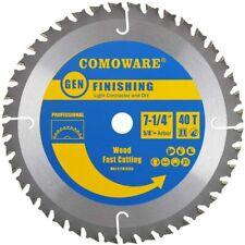 Circular Saw Blades 7 1/4 inch - 40 Tooth ATB, Premium Tip, Anti-vibration
