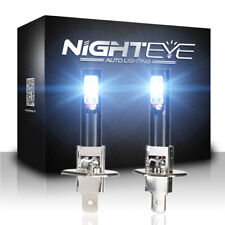 NIGHTEYE Car H1 LED Fog Headlight Bulbs Driving Lamp 160W 1600LM 6500K White UK