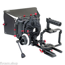 Video Camera Cage Rig with Handle Grip Matte Box for Panasonic Lumix DMC-G7