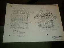 Copie de 3 Original Ford Cosworth Blueprints for DFV FORMULE 1 MOTEUR LOTUS