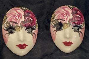 New Orleans Hand Painted Kathleen H. Thomas Porcelain Earrings