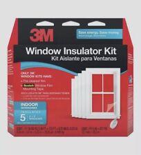 3M (5) 3'x5' Window Insulator INDOOR Kit Clear Film & Scotch TAPE Draft 2141W6