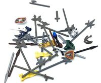 LEGO LOT OF CASTLE ACCESSORIES BOWS AXE SWORDS WEAPONS SHIELD PARTS
