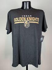 Men's '47 Brand Vegas Golden Knights Black Short-Sleeve Cotton NHL Hockey Shirt