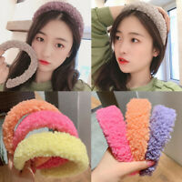 Women Ladies Plush Wide Headband Hairband Hair Hoop Headdress Winter Hair Band