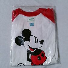 VTG 80's Mickey Mouse T Shirt Raglan 70's Tropix Togs 50/50 NEW IN SEALED BAG