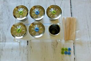 Stainless Steel ONYX 18/8 Popsicle Molds  6 Molds 5 Lids 1 Stand + Bamboo Sticks