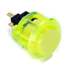 Sanwa OBSC-24mm Snap-in Button-Clear Yellow-OEM
