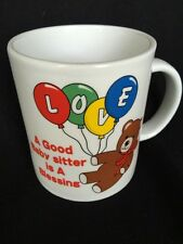 A Good Babysitter is a Blessing with Bear and Balloons Coffee Mug