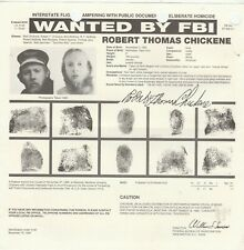 FBI WANTED POSTER ROBERT THOMAS CHICKENE-INTERSTATE FLIGHT-HOMICIDE 11-27-85