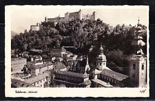 Austria 1950 post card Salzburg Altstadt Castle Chateau to Germany