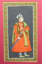 Rare Hand Painted Fine Decorative Collectible Indian Miniature Painting. G77-7